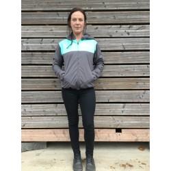 veste étanche gris/turquoise