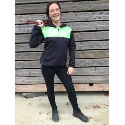 Veste étanche noire et verte